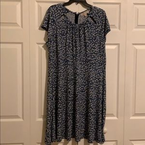 Michael Kora floral dress in blue, 2x